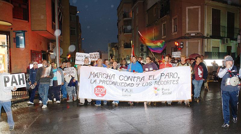 La marcha contra el paro y la pobreza llega a Cieza