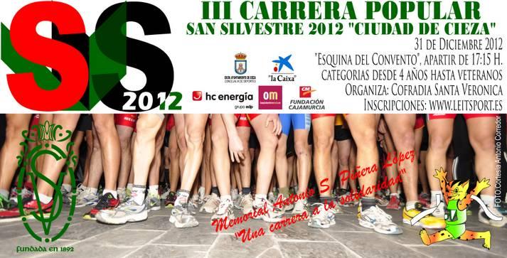 Abierto el plazo de inscripción para la carrera popular San Silvestre 'Memorial Antonio S. Piñera López