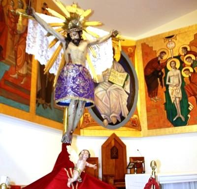 El Santo Cristo acaba su peregrinación por las iglesias ciezanas
